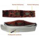 Pas wibracyjny NefrytMed, do masażu pleców, ciała, masażer odchudzający